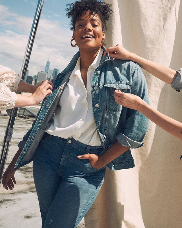 closet clean-out incentive / get $30 toward new jeans when you bring pre-loved pairs from any brand to our stores this weekend. we'll recycle 'em with (and yep, we usually offer $20, so this is pretttty special)